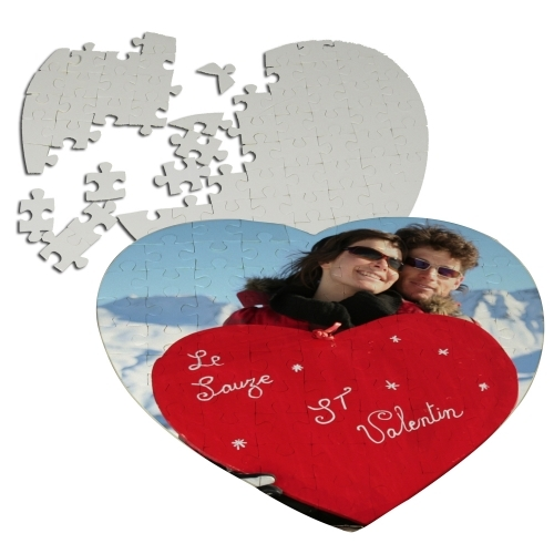 Heart Puzzle 75 pcs customizable