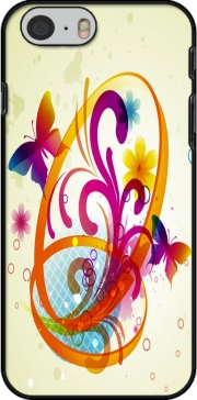 Butterfly with flowers Hoesje voor Iphone 6 4.7