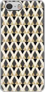 GLITTER TRIANGLES IN GOLD, BLACK AND NUDE Hoesje voor Iphone 6 4.7