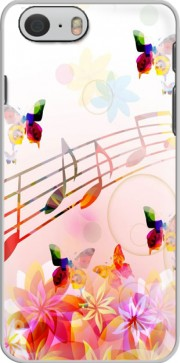 Musical Notes Butterflies Hoesje voor Iphone 6 4.7