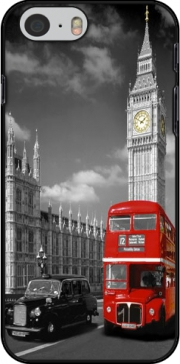 Red bus of London with Big Ben Hoesje voor Iphone 6 4.7
