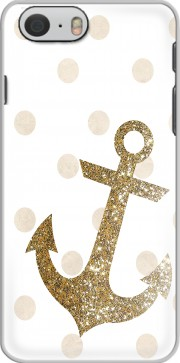 Glitter Anchor and dots in gold Hoesje voor Iphone 6s