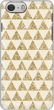 Glitter Triangles in Gold Hoesje voor Iphone 6s