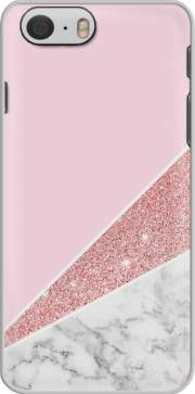 Initiale Marble and Glitter Pink Hoesje voor Iphone 6s