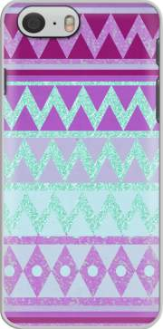 Tribal Chevron in pink and mint glitter Hoesje voor Iphone 6s