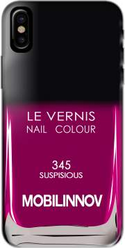 Nail Polish 345 SUSPISIOUS Hoesje voor Iphone X / Iphone XS