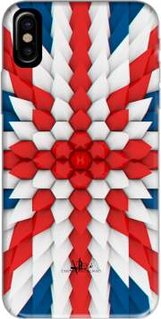 3D Poly Union Jack London flag Hoesje voor Iphone X / Iphone XS