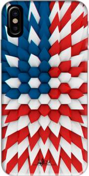 3D Poly USA flag Hoesje voor Iphone X / Iphone XS
