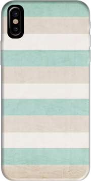 aqua and sand stripes Hoesje voor Iphone X / Iphone XS