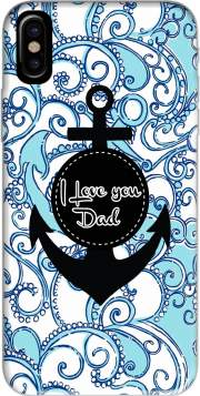 Blue Water - I love you Dad Hoesje voor Iphone X / Iphone XS