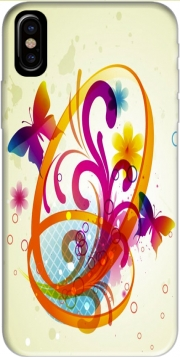 Butterfly with flowers Hoesje voor Iphone X / Iphone XS