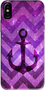 Anchor Chevron Purple Hoesje voor Iphone X / Iphone XS
