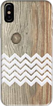 Chevron on wood Hoesje voor Iphone X / Iphone XS