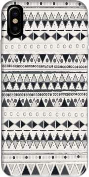 Ethnic Candy Tribal in Black and White Hoesje voor Iphone X / Iphone XS