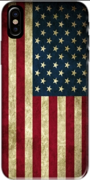 Flag USA Vintage Hoesje voor Iphone X / Iphone XS