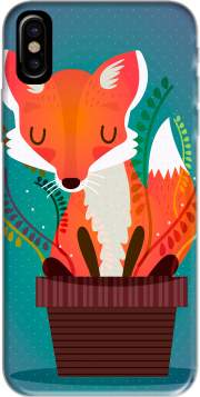 Fox in the pot Hoesje voor Iphone X / Iphone XS