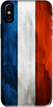 Flag France Vintage Hoesje voor Iphone X / Iphone XS