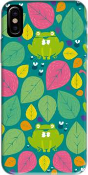 Frogs and leaves Hoesje voor Iphone X / Iphone XS