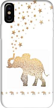 Gatsby Gold Glitter Elephant Hoesje voor Iphone X / Iphone XS