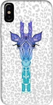 Giraffe Purple Hoesje voor Iphone X / Iphone XS