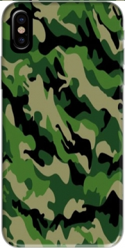 Green Military camouflage Hoesje voor Iphone X / Iphone XS
