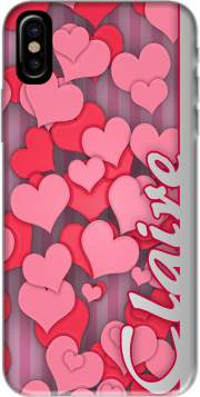 Heart Love - Claire Hoesje voor Iphone X / Iphone XS