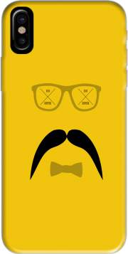 Hipster Face 2 Hoesje voor Iphone X / Iphone XS