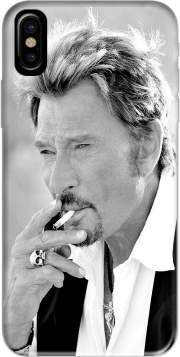 johnny hallyday Smoke Cigare Hommage Hoesje voor Iphone X / Iphone XS