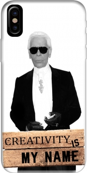 Karl Lagerfeld Creativity is my name Hoesje voor Iphone X / Iphone XS
