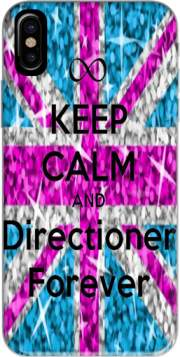 Keep Calm And Directioner forever Hoesje voor Iphone X / Iphone XS