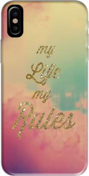 My life My rules Hoesje voor Iphone X / Iphone XS