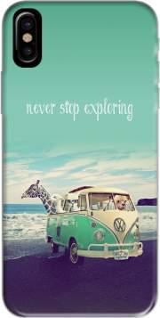 Never Stop Exploring - Lamas on Holidays Hoesje voor Iphone X / Iphone XS