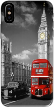Red bus of London with Big Ben Hoesje voor Iphone X / Iphone XS