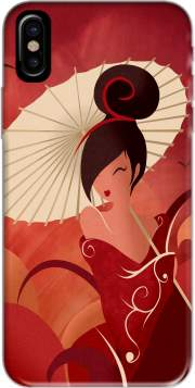 Sakura Asian Geisha Hoesje voor Iphone X / Iphone XS