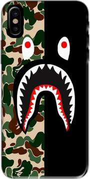 Shark Bape Camo Military Bicolor Hoesje voor Iphone X / Iphone XS