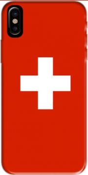 Switzerland Flag Hoesje voor Iphone X / Iphone XS
