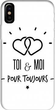 Toi et moi pour toujours Hoesje voor Iphone X / Iphone XS