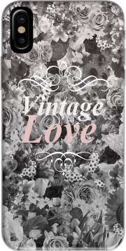 Vintage love in black and white Hoesje voor Iphone X / Iphone XS