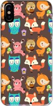Woodland friends Hoesje voor Iphone X / Iphone XS