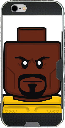 Bricks Defenders Luke Cage Iphone 6 4.7 transparent hoesje
