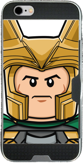 Bricks Loki Iphone 6 4.7 transparent hoesje
