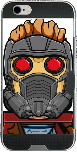 Bricks Star Lord Iphone 6 4.7 transparent hoesje