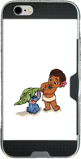 Disney Hangover Moana and Stich Iphone 6 4.7 transparent hoesje