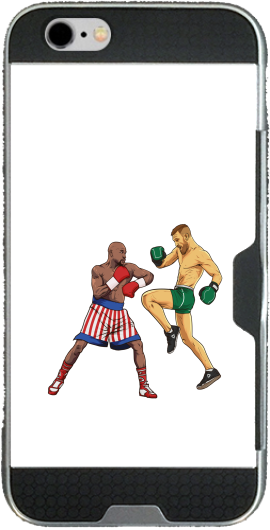 Mayweather vs McGregor Iphone 6 4.7 transparent hoesje
