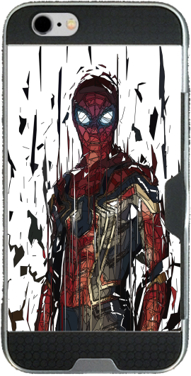 Spiderman Poly Iphone 6 4.7 transparent hoesje