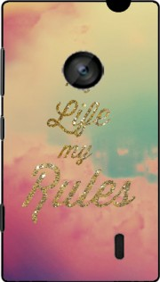 My life My rules Hoesje voor Nokia Lumia 520
