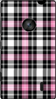 Pink Plaid Hoesje voor Nokia Lumia 520
