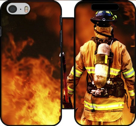 Book Cover Hoesje Firefighter voor Iphone 6 4.7