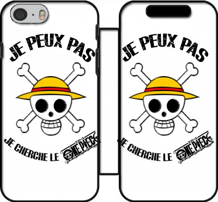 Book Cover Hoesje I cant Im looking for the One Piece voor Iphone 6 4.7