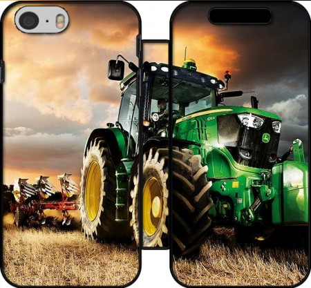 Book Cover Hoesje John Deer tractor Farm voor Iphone 6 4.7